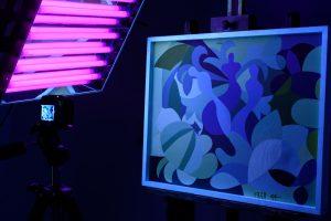 Elke Reuter im UV-Licht